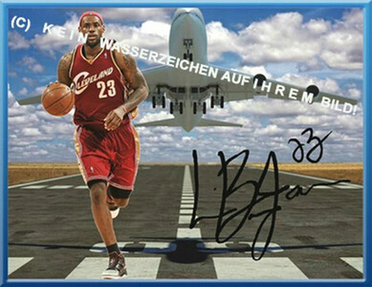 LEBRON JAMES Wanddekor mit Autogramm!
