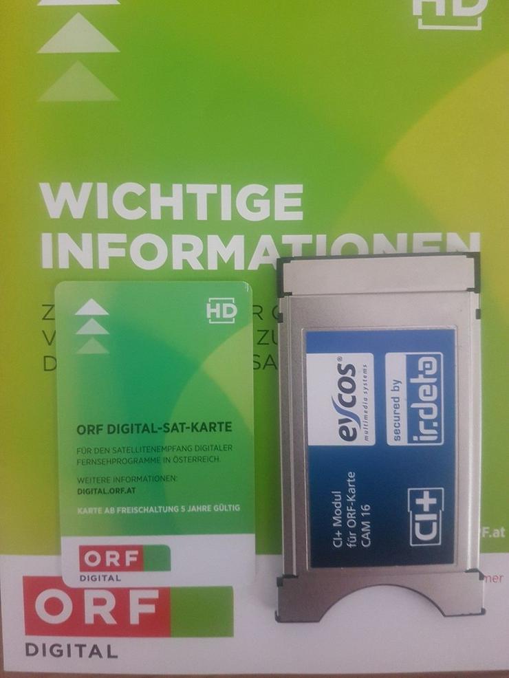 ORF  Sat HD Karte und CI+ Modul bis 07/2023