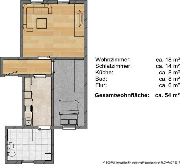 Preiswerte 2-Raum-Wohnung auf der rechten Elbseite