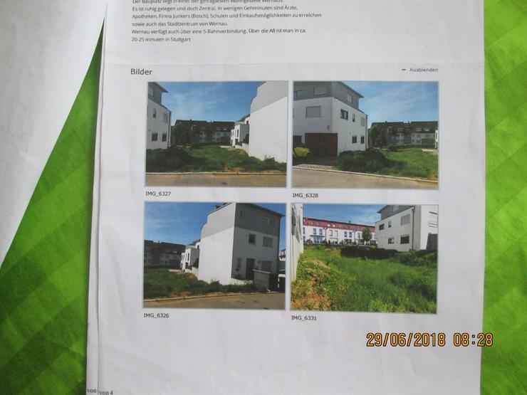 Bauplatz in Wernau für eine besondere DHH