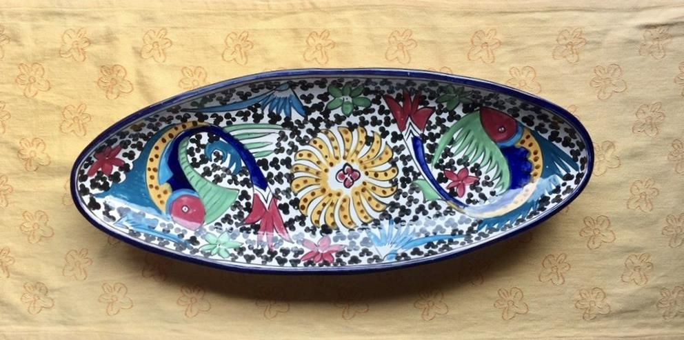 Handarbeit Servierschale oval Keramik Tunesien