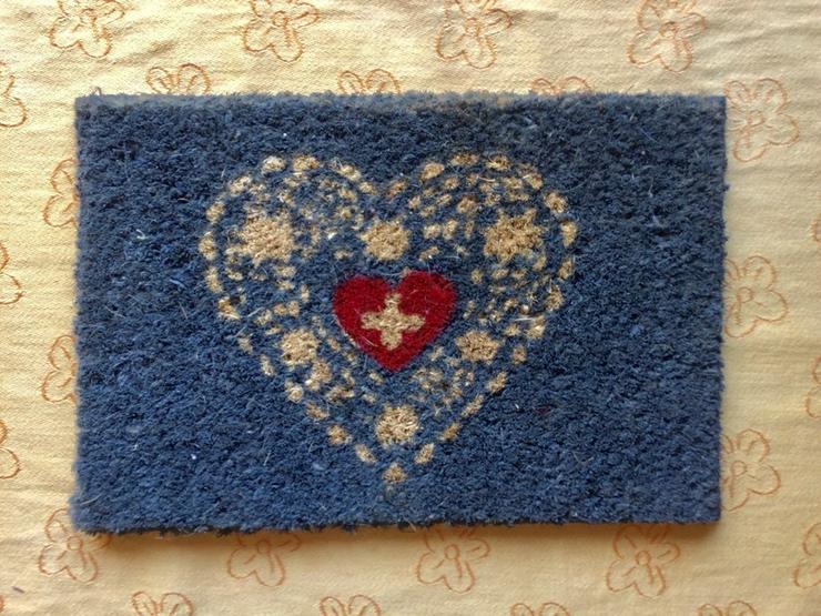 Kinder - Kokos - Fußmatte, Herz