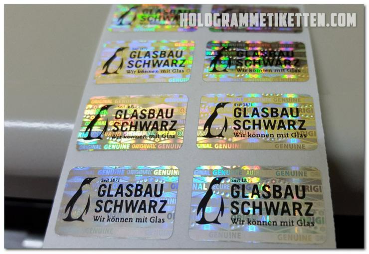 Hologramm Etiketten mit Ihrem Logo 1000 Stück