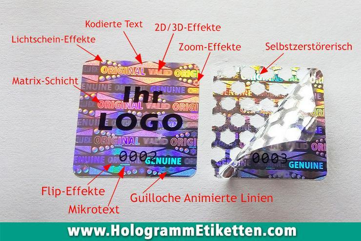 Hologramm Aufkleber + Ihr Logo