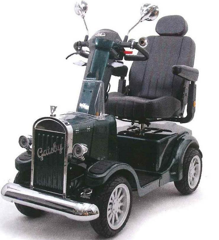 Elektro Scooter Fahrzeug Mobil Retro