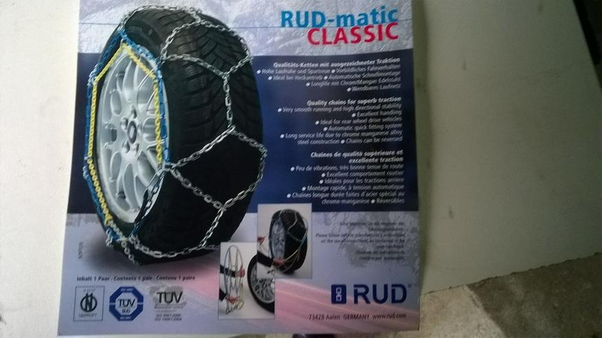 Schneeketten RUDmatic und RUD Quickstart