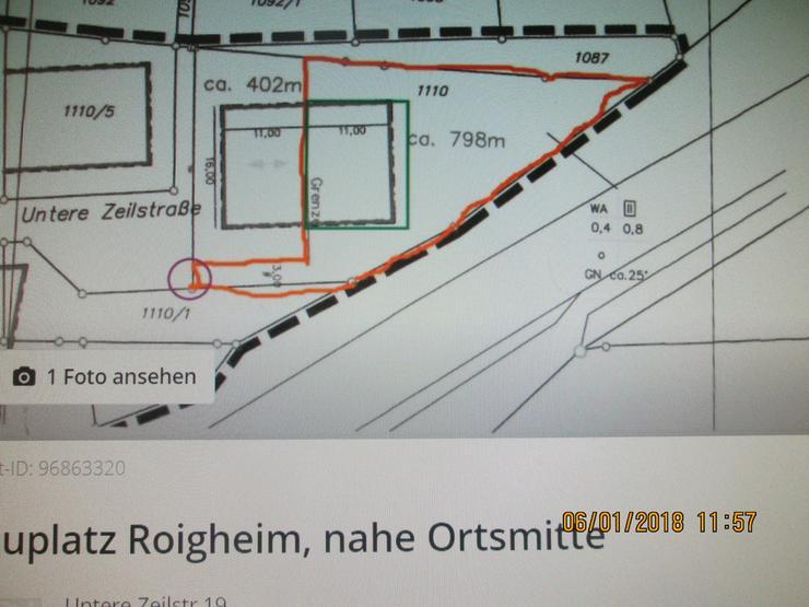 Bild 2: Bauplatz in Roigheim,nahe Ortsmitte