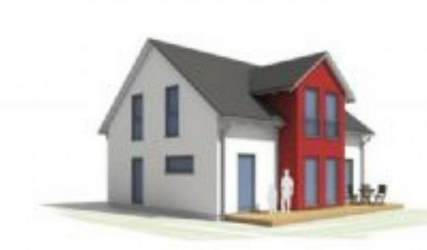 Schöffengrund Einfamilienhaus Neubau Niedrigenergiehaus mit Wärmepumpe u. KfW-55-Paket! - Grundstück kaufen - Bild 1