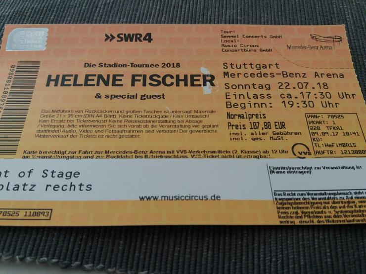 Helene Fischer Konzert, 22.7. In Stuttgart