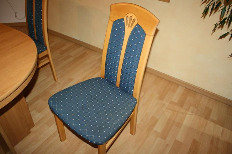 Bild 2: Esstisch buche mit 4 Einlagepletten + 6 Stühlen