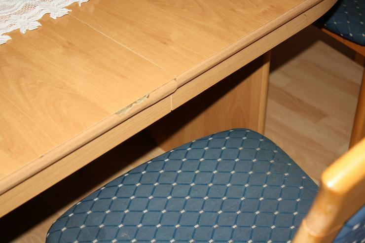 Bild 6: Esstisch buche mit 4 Einlagepletten + 6 Stühlen