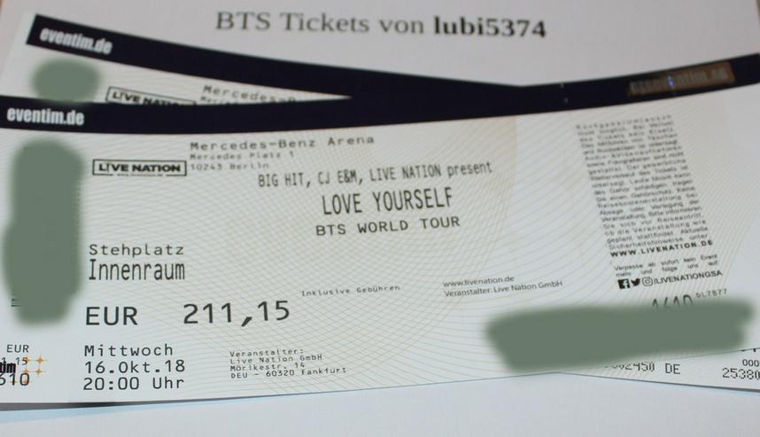 Bild 2: BTS - Stehplatz - Tickets - Berlin