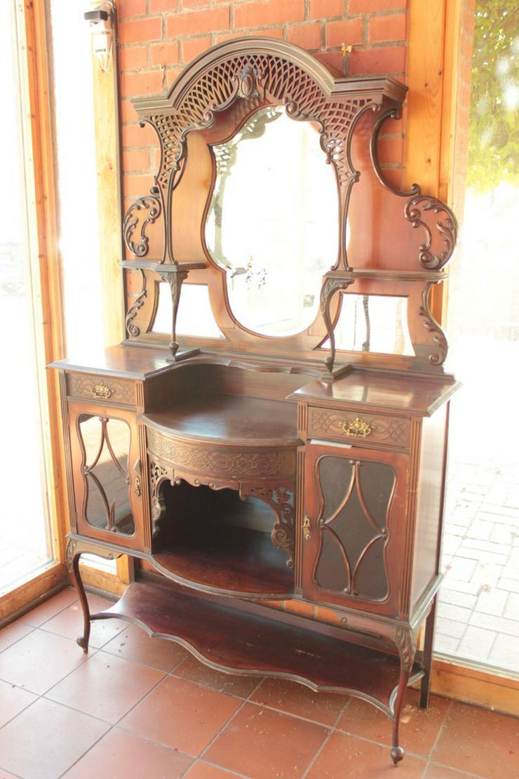 Antikes Jugendstill Kabinet mit Spiegel
