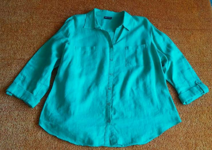 Damen Bluse Leinen Hemd Gr.46 Gerry Weber