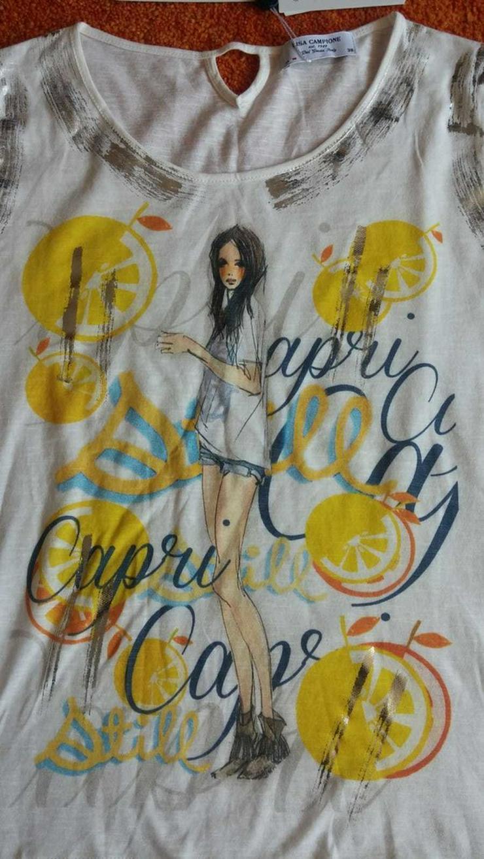 NEU Damen Shirt silber verzehrt Gr.38 von Lisa