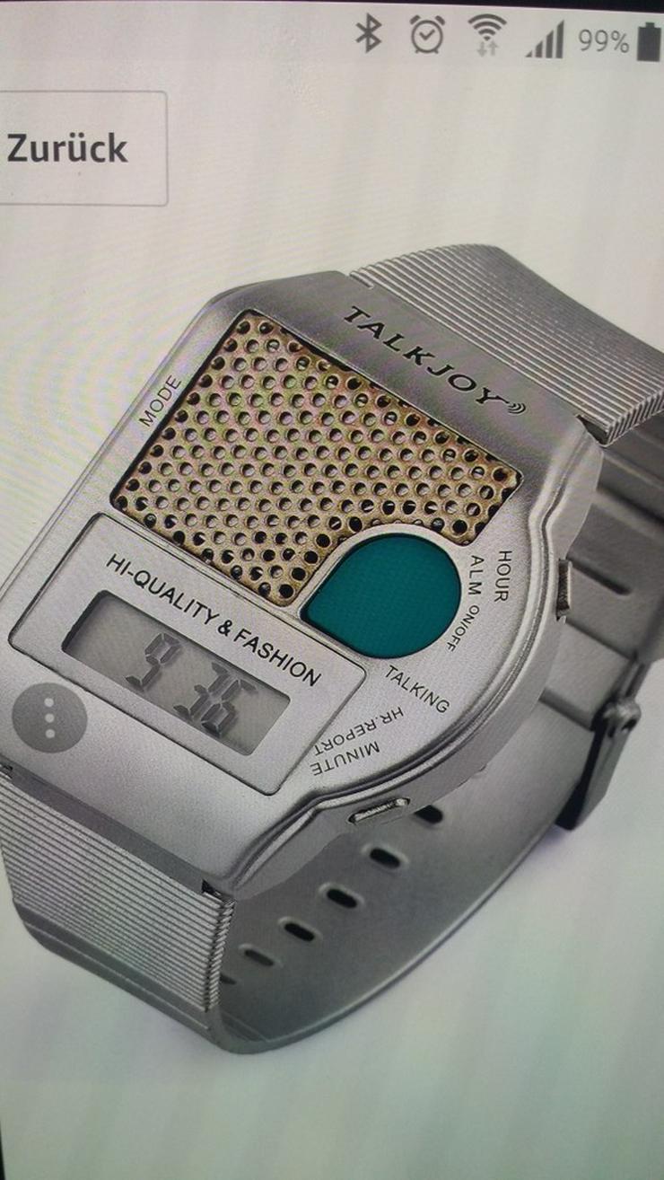 Neue SPRECHENDE Herren/Damen-Armbanduhr - Herren Armbanduhren - Bild 1