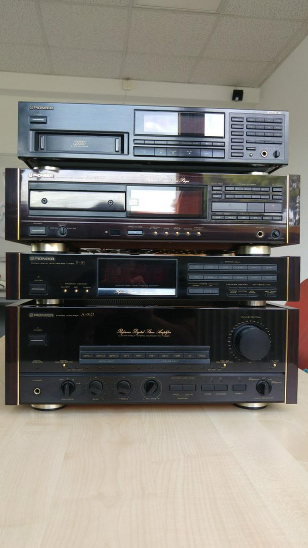 Pioneer Stereo HiFi-Anlage mit Quart Boxen