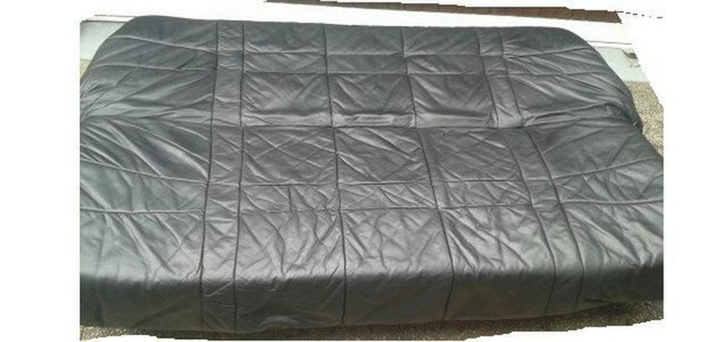 Bild 2: Schlafsofa, Leder, schwarz, Transport möglich