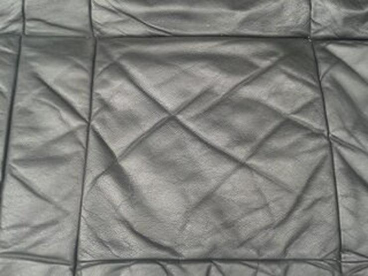 Bild 3: Schlafsofa, Leder, schwarz, Transport möglich