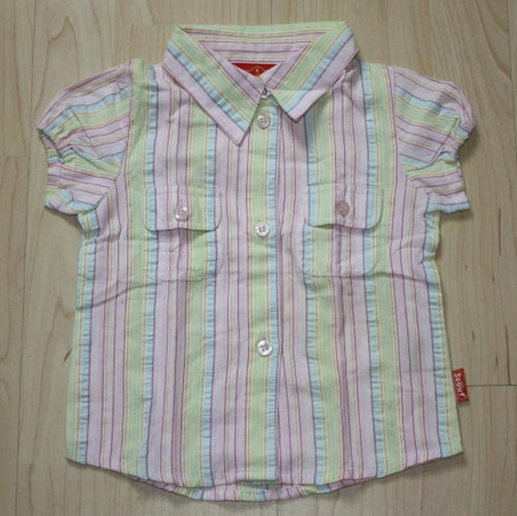 Mädchen Kurzarm Bluse Hemd Kinder gestreift 92