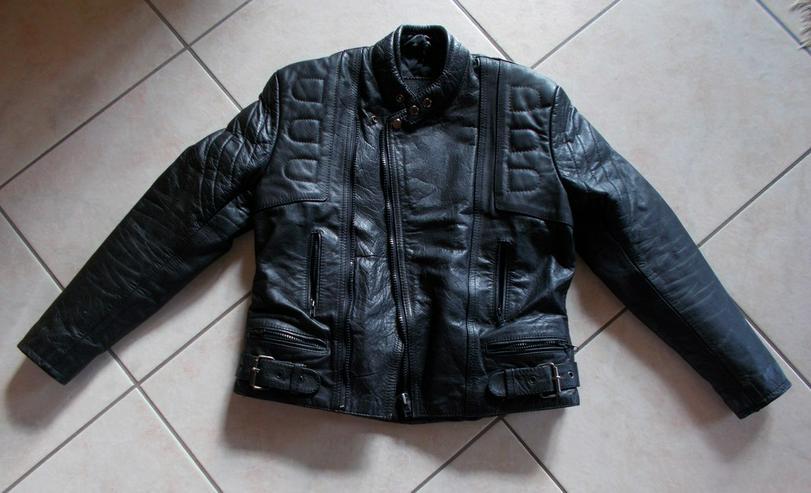 Schwarze Motorradlederjacke - Jacken & Westen - Bild 1