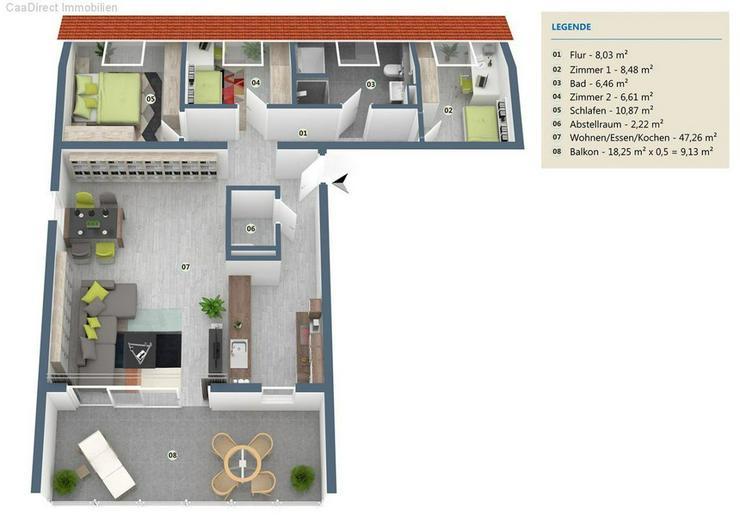 Bild 2: Moderne Neubauwohnung - Haus Lessing Wehr