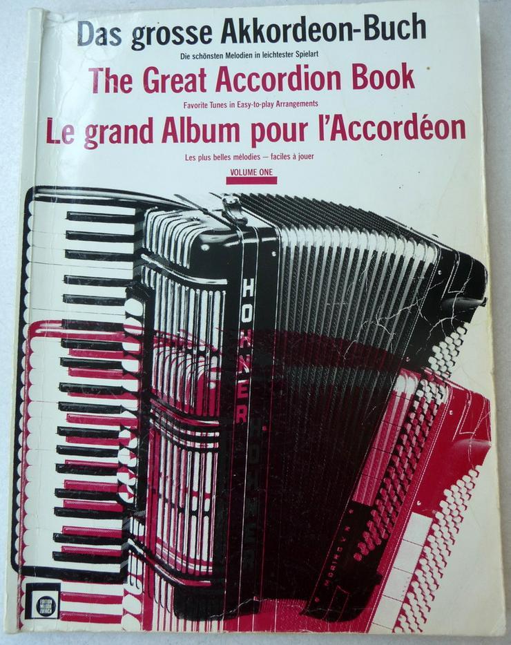 Noten für Akkordeon, Das große Akkordeonbuch - Weitere - Bild 1