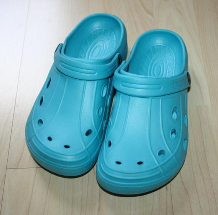 Bild 2: Clogs Kinder Hausschuhe Pantoletten türkis 36