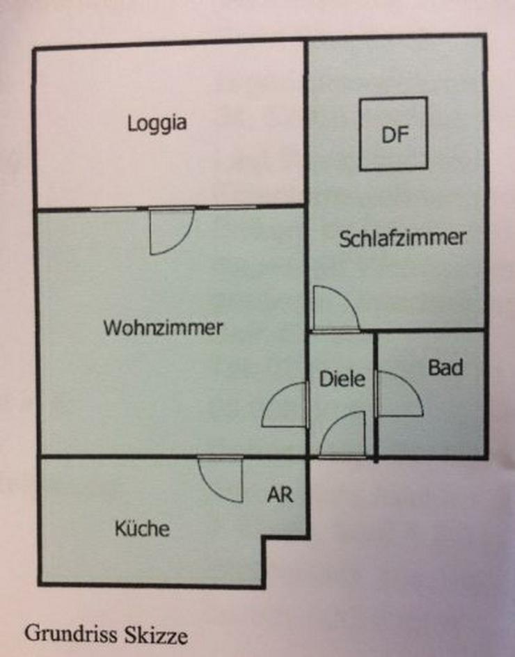 Schöne 2-Zimmerwohnung mit Terrasse - Wohnung mieten - Bild 1