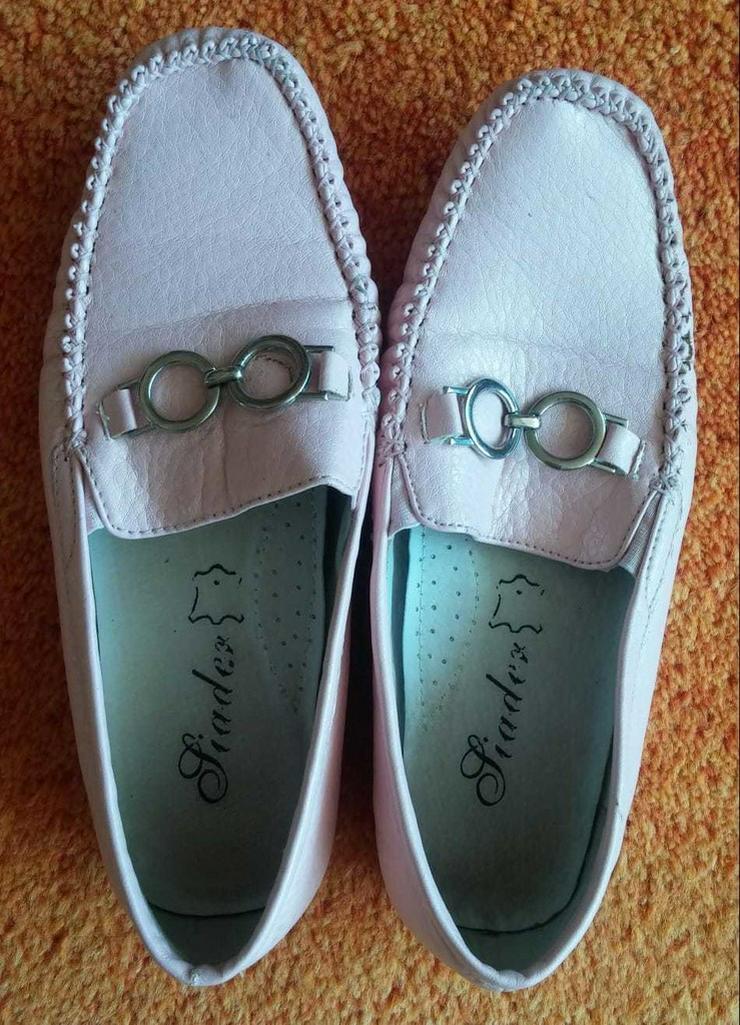 Damen Schuhe Leder Mokassins Gr.38 in Rosa