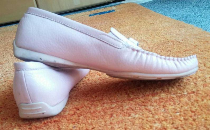 Bild 2: Damen Schuhe Leder Mokassins Gr.38 in Rosa
