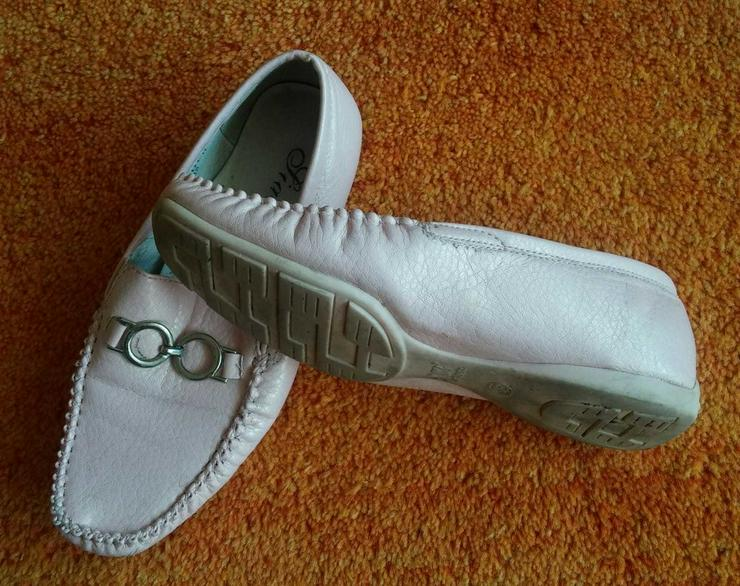 Bild 3: Damen Schuhe Leder Mokassins Gr.38 in Rosa