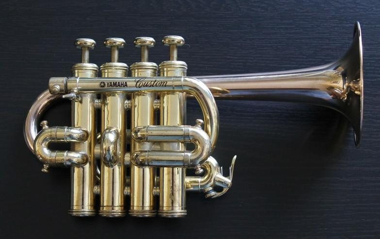 Bild 3: Yamaha Custom Hoch B/A Piccolo - Trompete