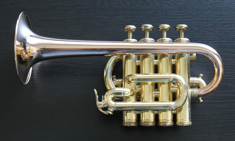Bild 4: Yamaha Custom Hoch B/A Piccolo - Trompete