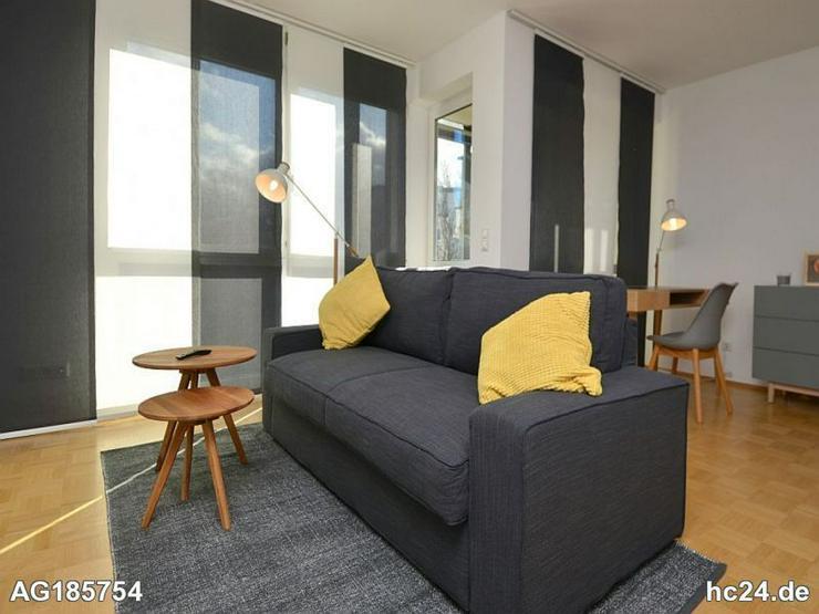Möblierte 1,5-Zimmer Wohnung mit Aufzug, Balkon und großem Flatscreen-TV in Wiesbaden