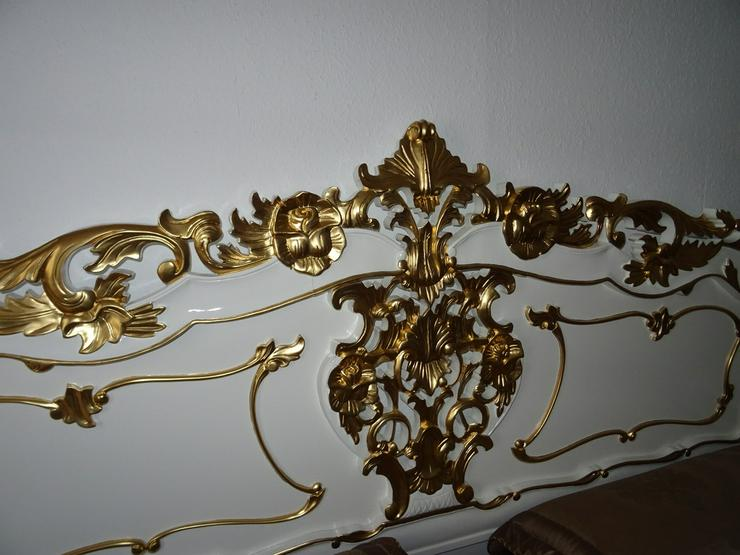 Bild 6: Antik /Doppelbett in Barock inkl 2 Nachttische