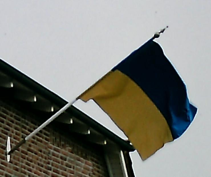 Fahnenmast m Flagge,Halter u Schützenvereinshut