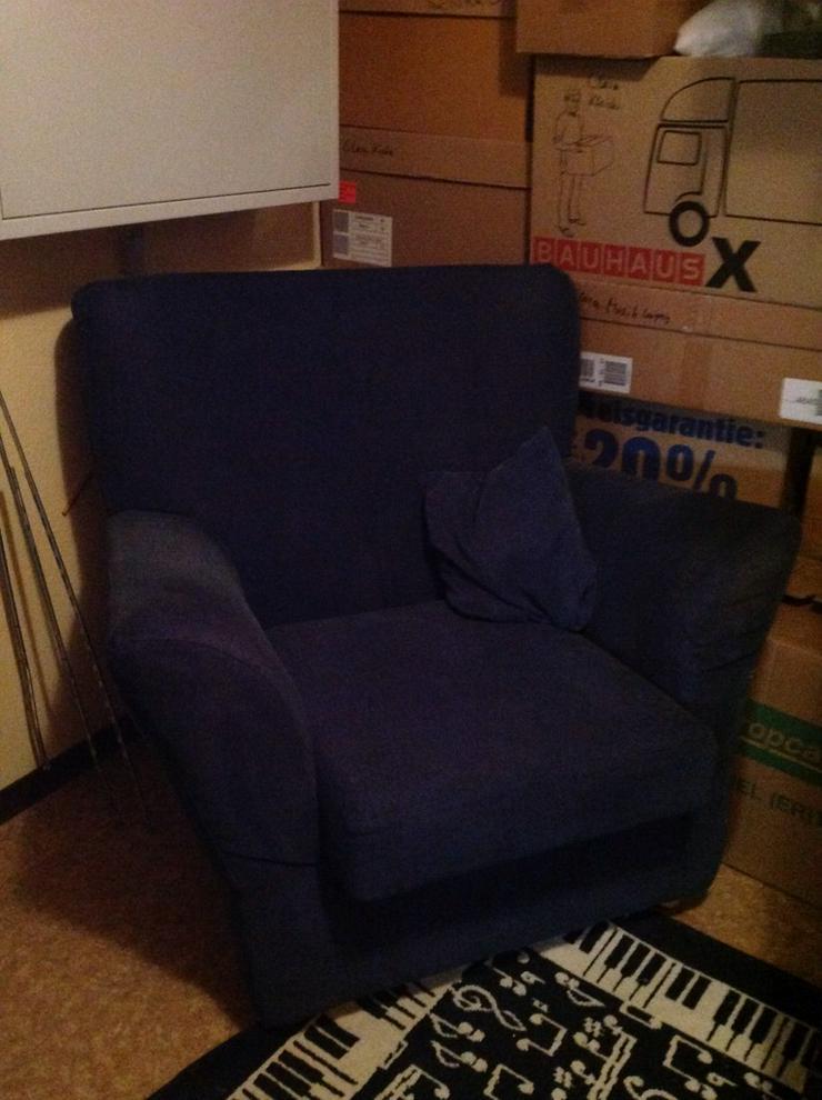Sessel, blau,  Möbelum, groß