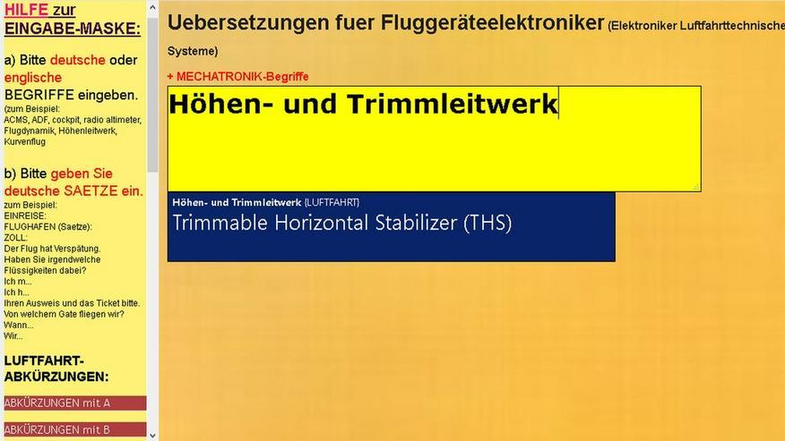englisch Vokabeln fuer Luftfahrttechniker - Wörterbücher - Bild 1