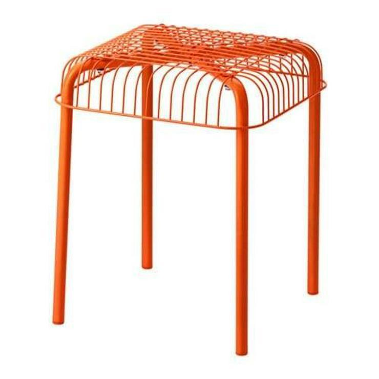 4 Stück. IKEA Garten Stapel Stuhl Orange