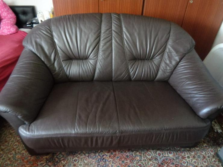 Gemütliches 2er Sofa Echtes Leder! Sehr gepfle
