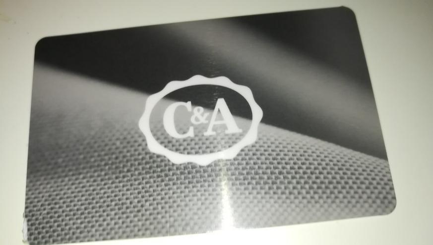 Verkaufe Gutscheinkarte von C&A