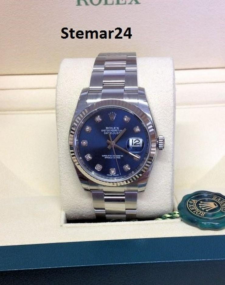 Rolex Datejust Blue Diamant Dial NEU 116234