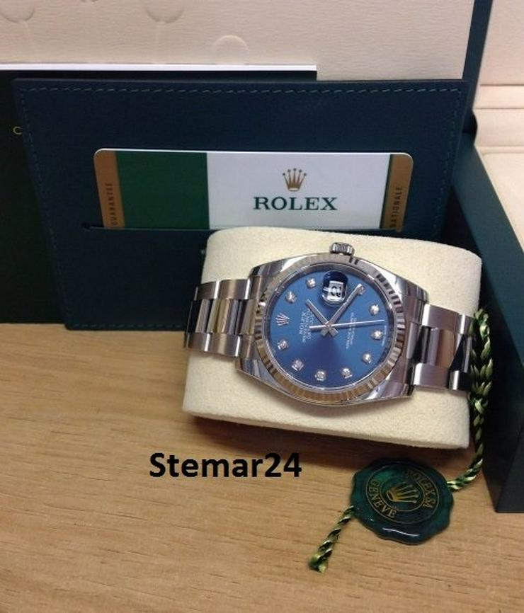 Bild 4: Rolex Datejust Blue Diamant Dial NEU 116234