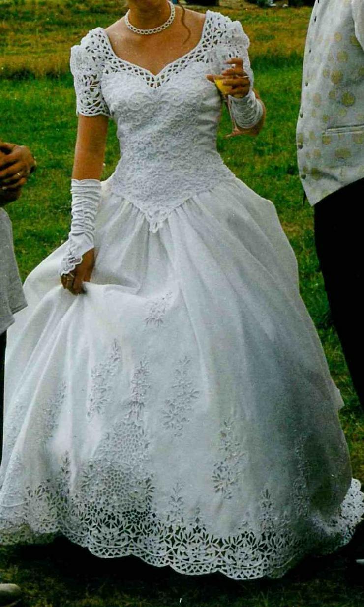 Bild 3: Romantisches Brautkleid, creme, Gr. 36