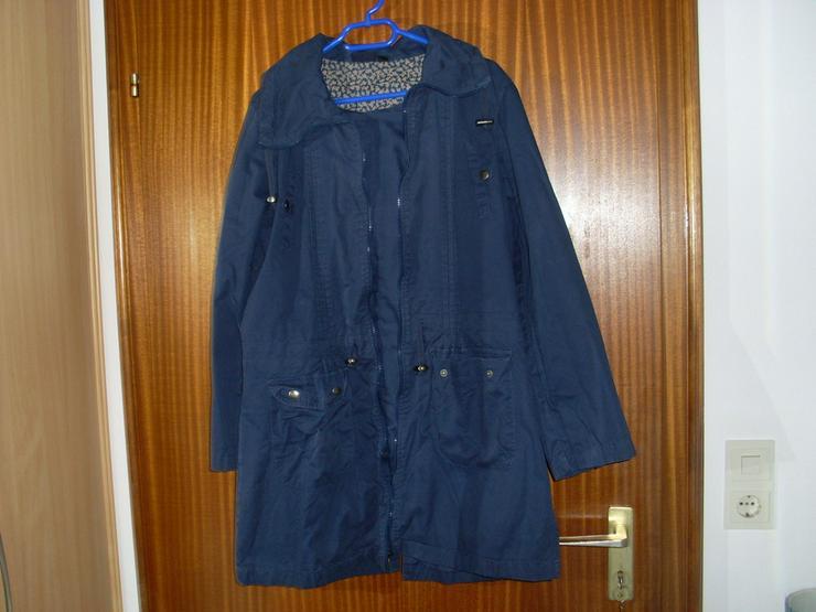 Bild 3: Damen Jacke blau m. Kapuze Gr. 42