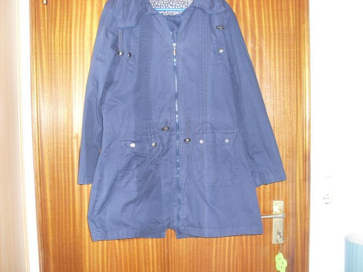 Bild 5: Damen Jacke blau m. Kapuze Gr. 42