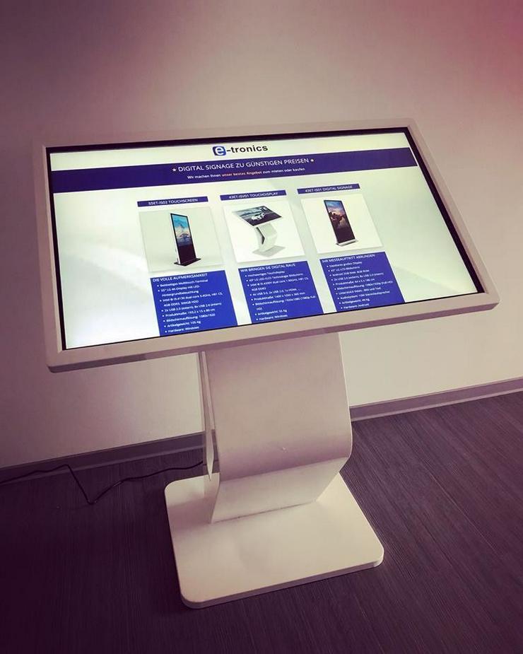 Digital Signage Werbestele Display für Messen