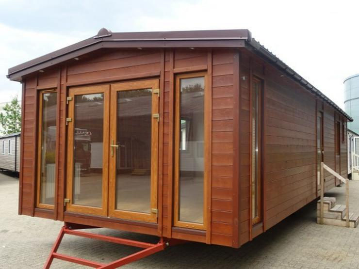 Mobilheim Holz mit sauna wohnwagen dauercamping