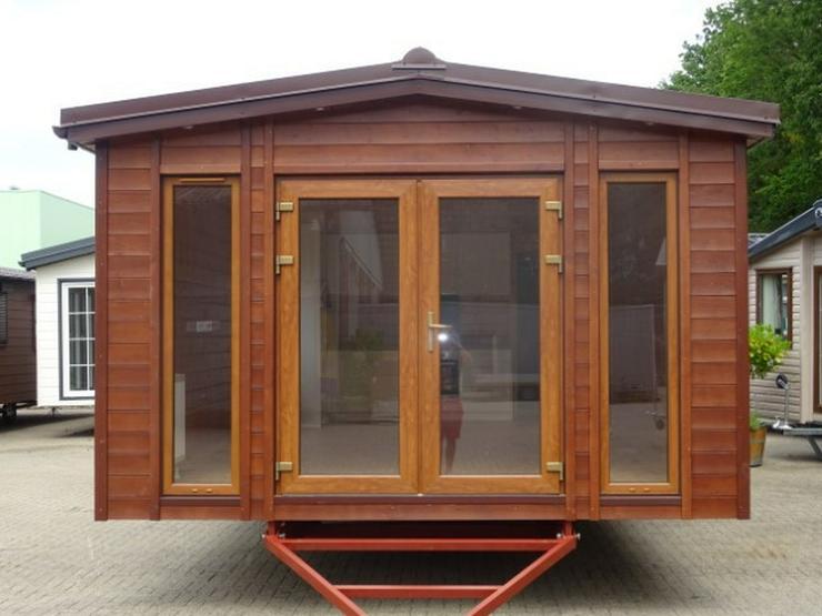 Bild 2: Mobilheim Holz mit sauna wohnwagen dauercamping